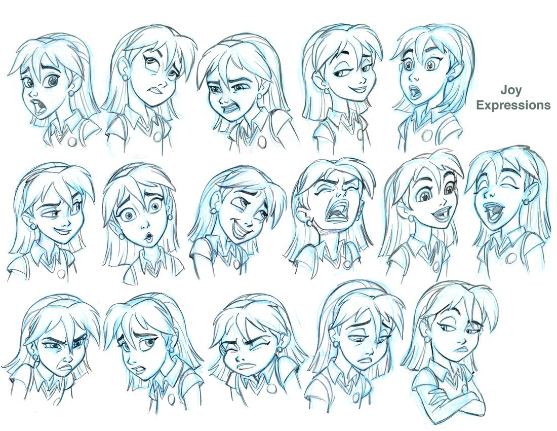 An Expression Model Sheet I Did For The New Superbook Cg Tv Series Her Name Is Joy This Was