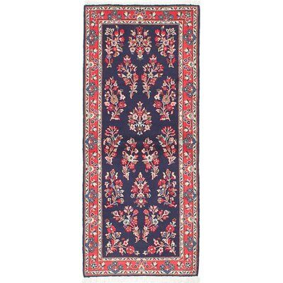Isabelline One Of A Kind Arborglen Hand Knotted Runner 2 8 X 6 5 Wool Dark Navy Area Rug Colorful Rugs Wool Rug Rugs