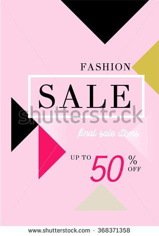 Fashion Sale stylish banner. Sale background. Big sale. Sale tag. Sale poster. Sale vector. Super Sale and special offer. Up to 50% off. Vector illustration. - stock vector