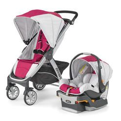 Chicco Bravo Trio Travel System Stroller Car Seat Base Orchid Pink Girl