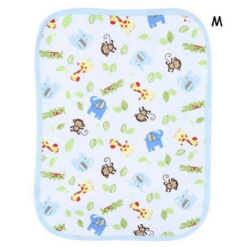 70cm X 50cm Reusable Baby Diapers Mattress Waterproof Sheet Changing Mat Cotton Baby Crib Stroller Pram Waterproof Bed S M