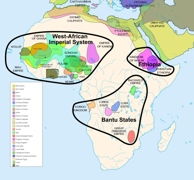 Medieval African States- We just studied West African empires during the middle ages.