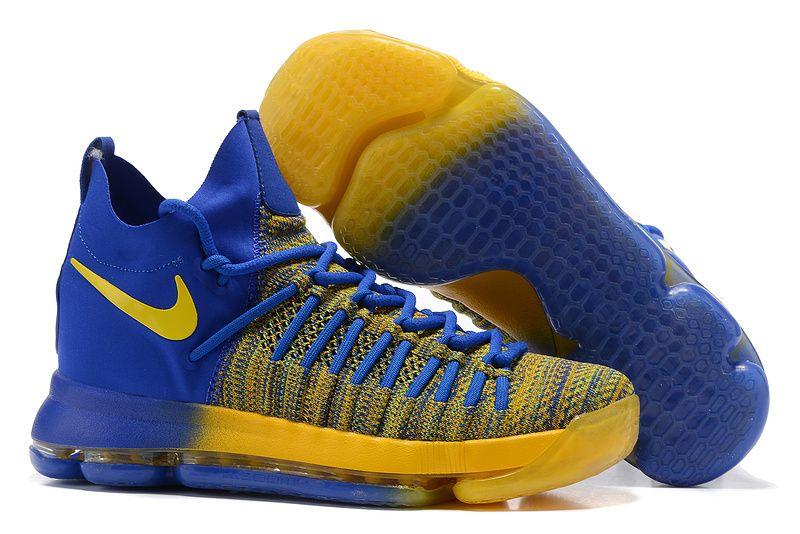 1fe8aa09244 Cheap Nike KD 9(IX) Elite Basketball Shoes Yellow Blue on www.nbakd10.com