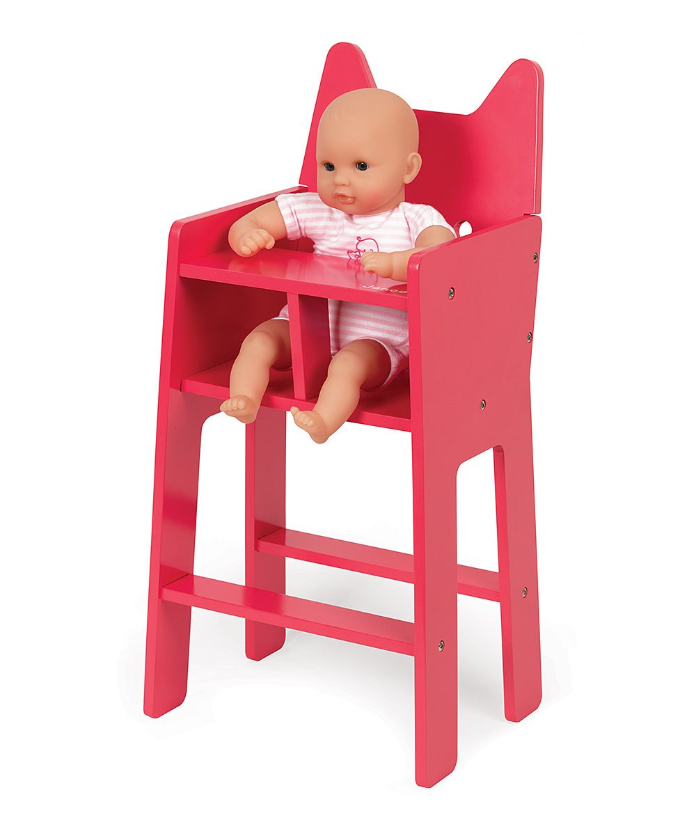 Janod Pink Babycat Doll High Chair Doll high chair, Pink