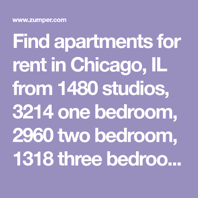 2 Bedroom Apartment Near Me Rent: Find Apartments For Rent In Chicago, IL From 1480 Studios