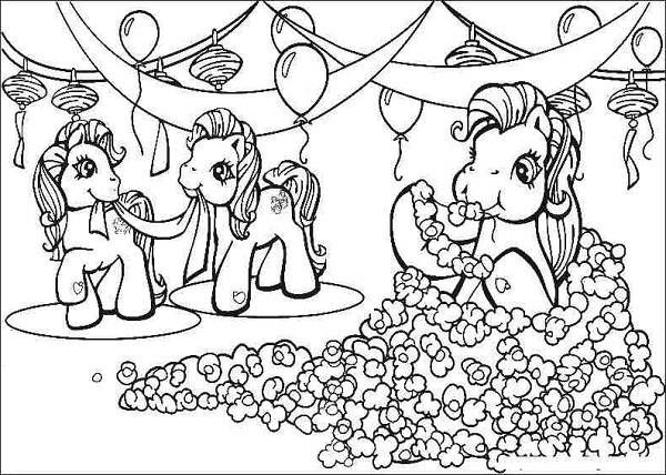 My Little Pony Coloring And Banners For Birthday