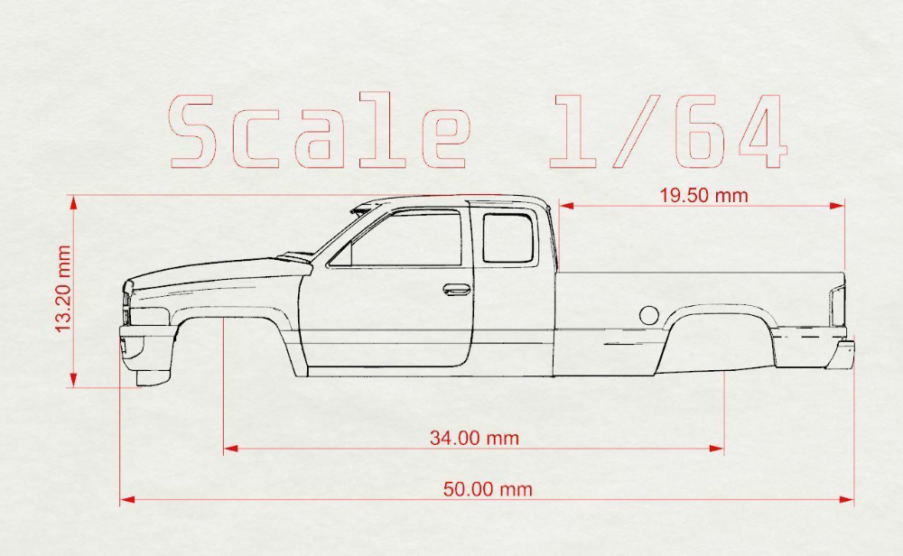 Stl Printables Dodge Ram 1500 2nd Gen Scale 64 3d Print Model Dodge Ram 1500 Ram 1500 Dodge Ram