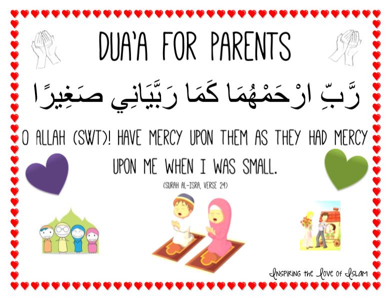 Dua A For Parents Printable Kids Behavior Parents Co Parenting