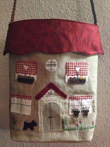Baúl CasaLil'l Mi Punto Fabric De CruzBolso Houses c4j5LRq3A