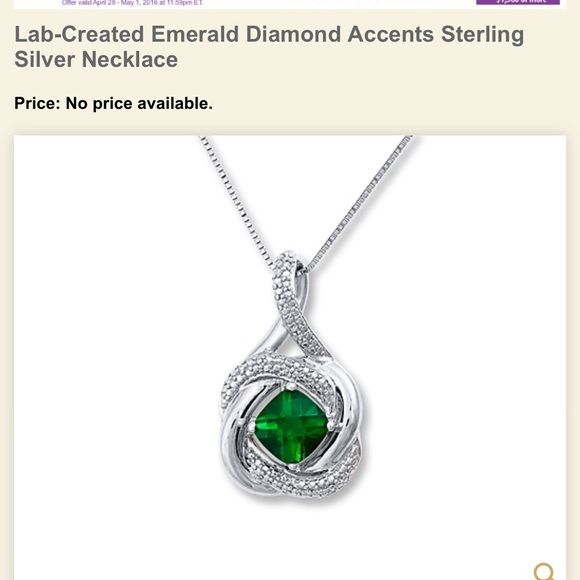 Kay jewelers lab created emerald pendant lost beautiful and bf kay jewelers lab created emerald pendant mozeypictures Image collections