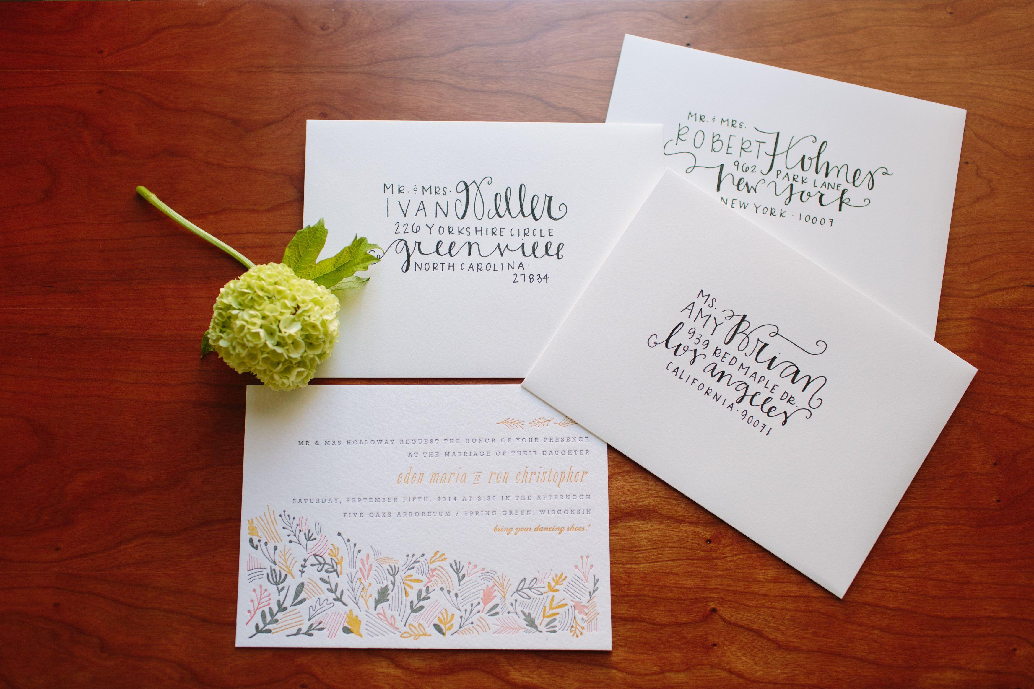 Diy Wedding Envelope Addressing Tips Yorkshire