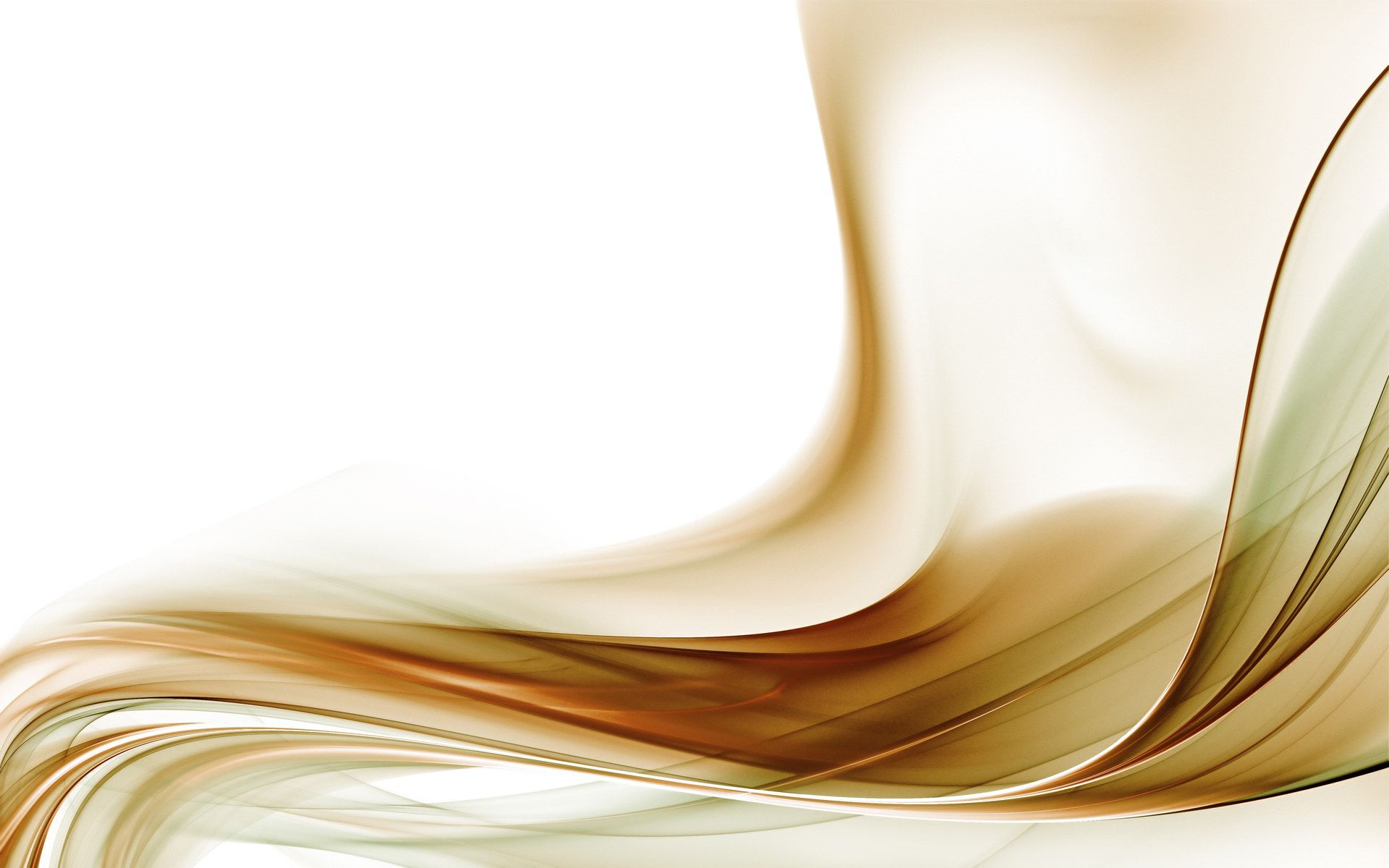 Gold Abstract With White Background HD Wallpaper Image