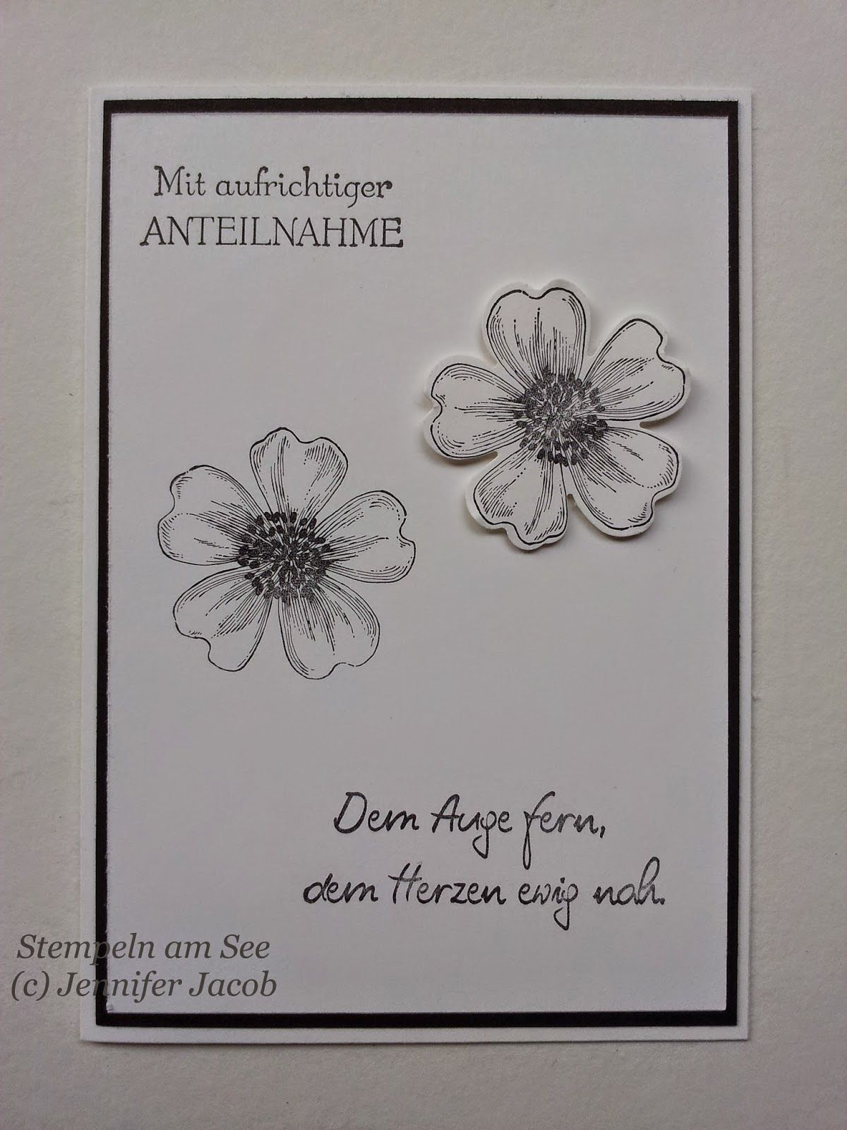 herzen statt blumen trauerkarte diy kreativ karten pinterest trauer karten und trauerkarte. Black Bedroom Furniture Sets. Home Design Ideas
