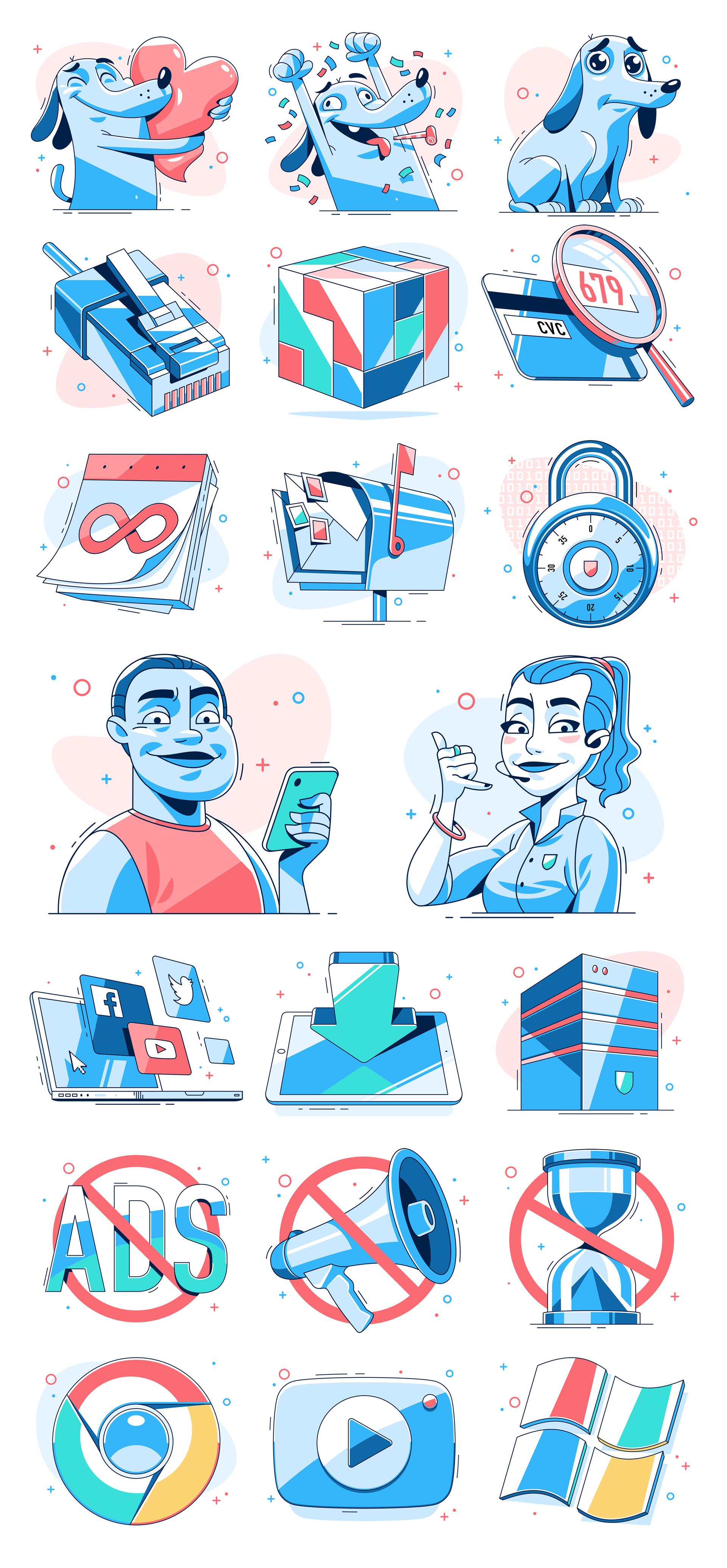 Illustrations For Hotspot Shield On Behance Illustration Artwork Illustration Character Design Illustration