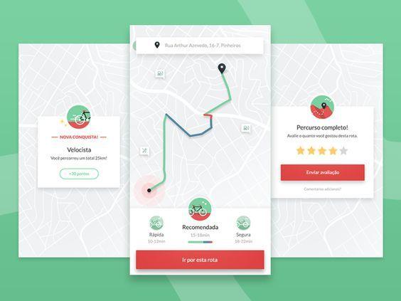 Bike App Concept Android Design App Design Layout Mobile App