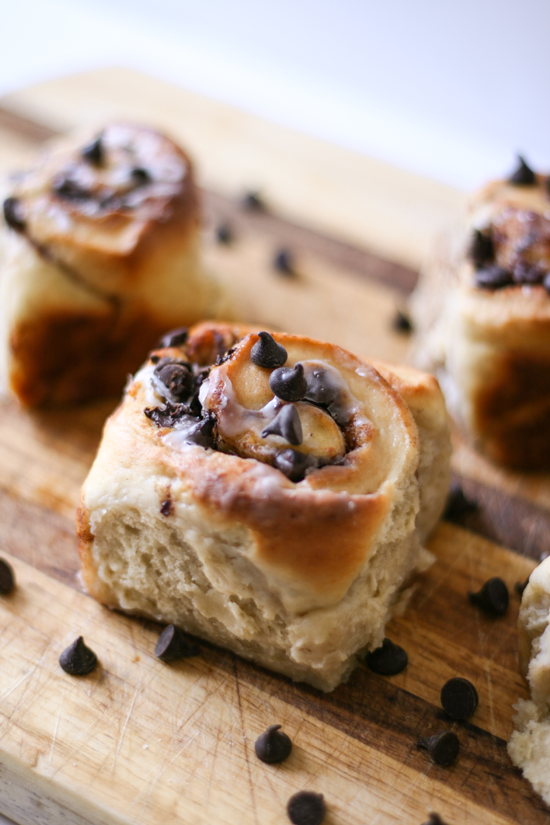 Easy Peasy Chocolate Chip Cinnamon Rolls