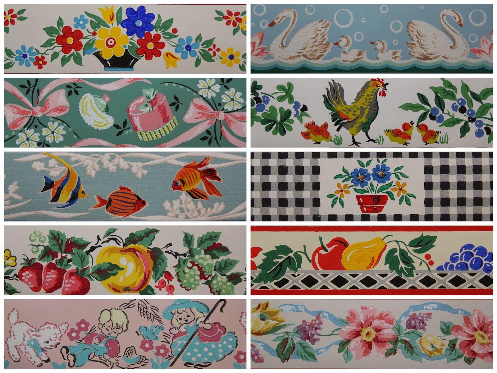Rosie's Vintage Wallpaper Trimz Borders for sale Vintage