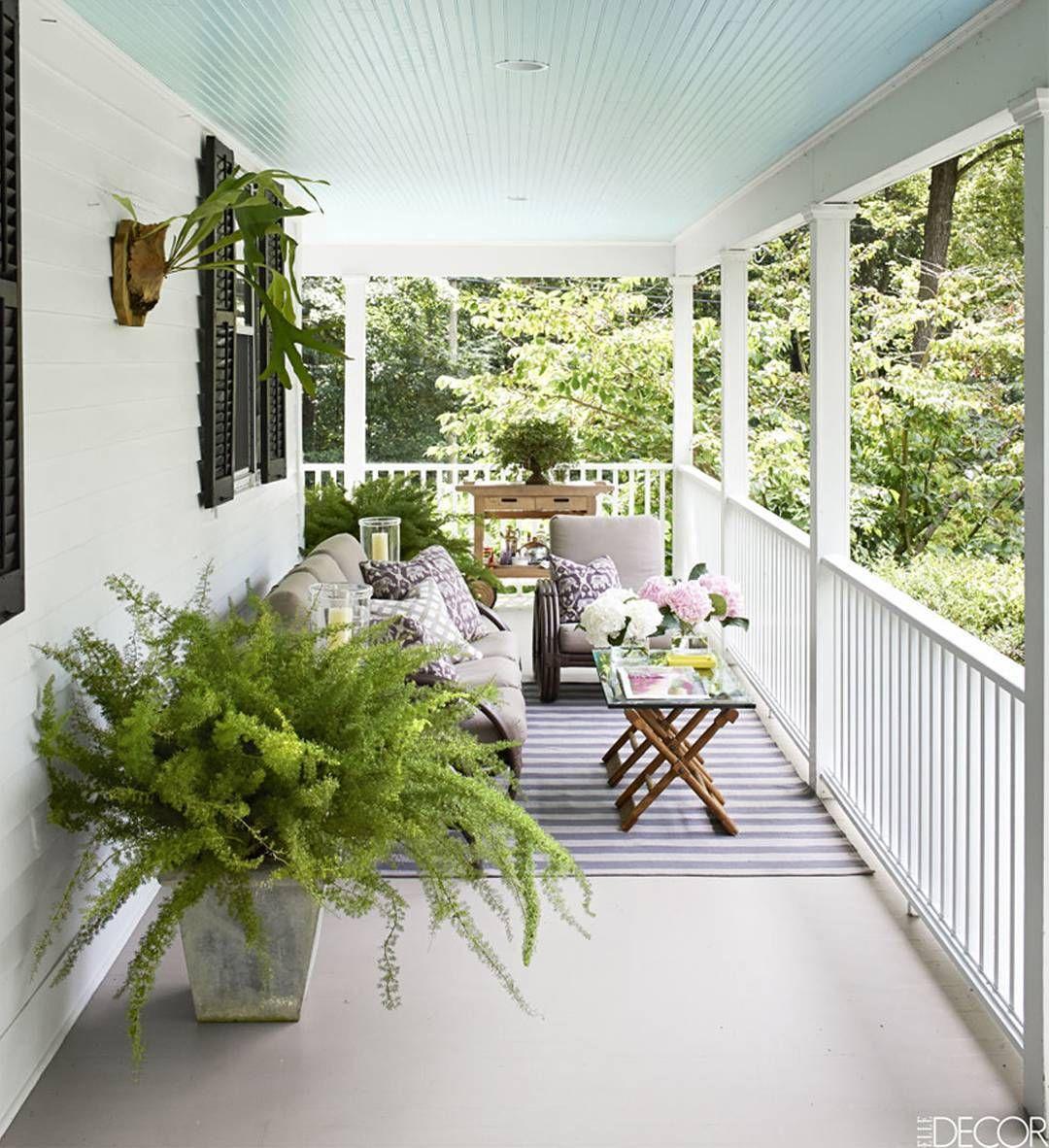 Front Porch Ceiling Ideas: Paint Your #ceiling A Light Color Like Glacier Blue 1653