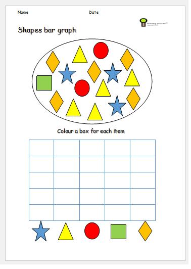 Bar graphs for kids worksheets