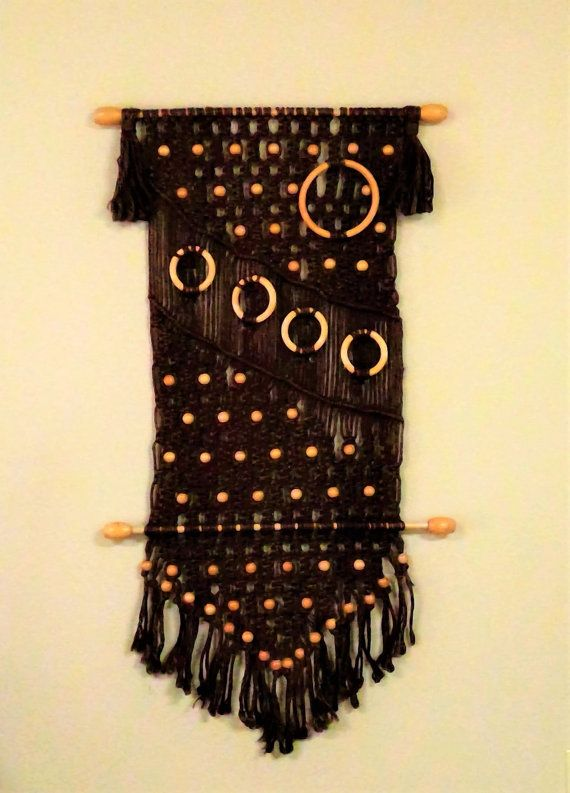 Vintage Textile Woven Wall Hanging | Woven wall hanging, Design art ...