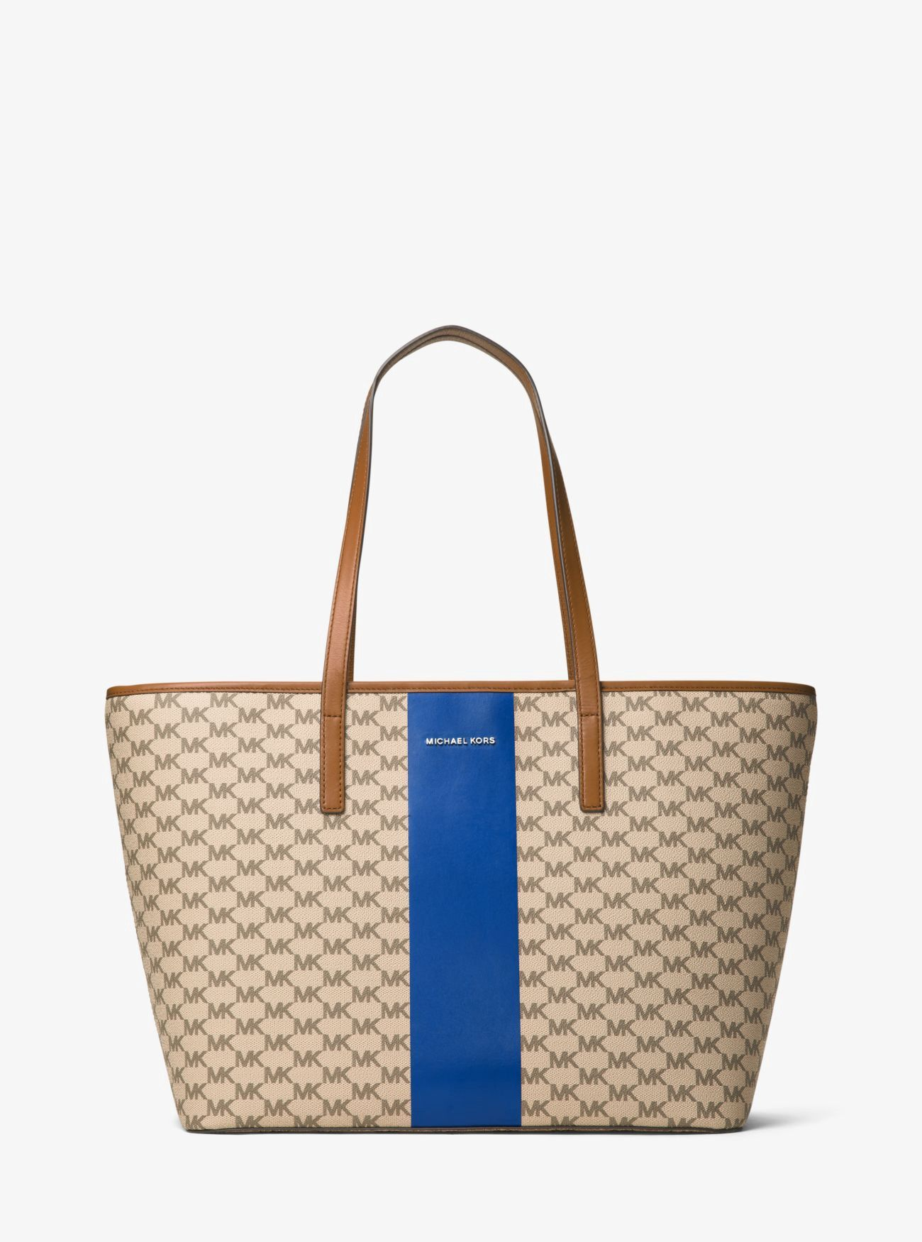 MICHAEL KORS Emry Large Heritage Signature Tote.  michaelkors  bags  hand  bags  canvas  polyester  tote  lining   ceaa5c1d253