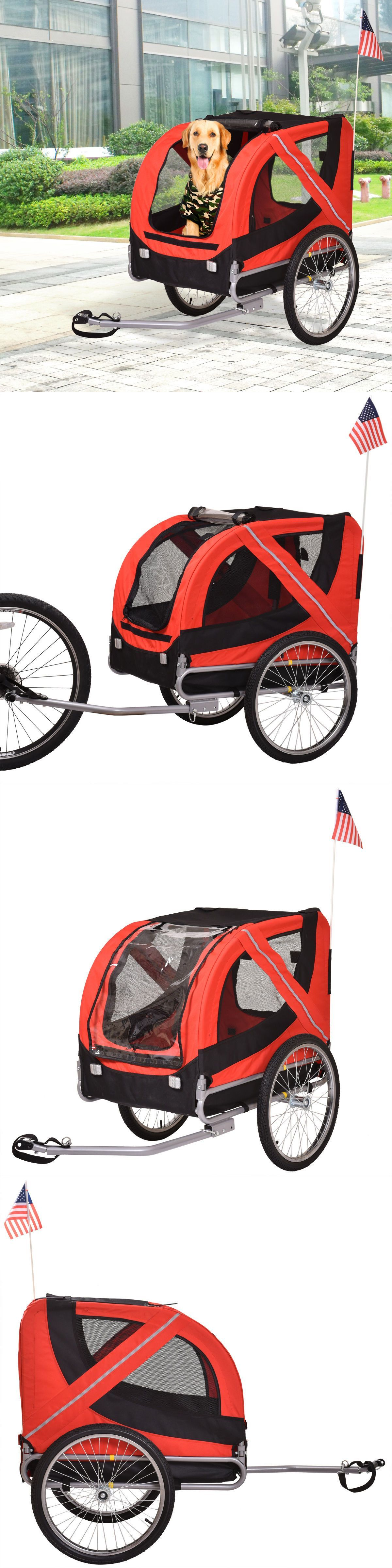 Strollers 116380 Folding Pet Carrier Bicycle Trailer Dog Cat Bike