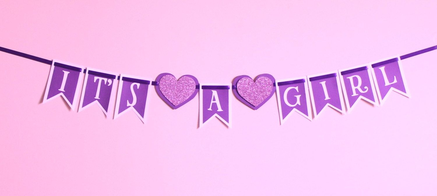 purple its a girl | Baby Decorations for nursery and baby ...