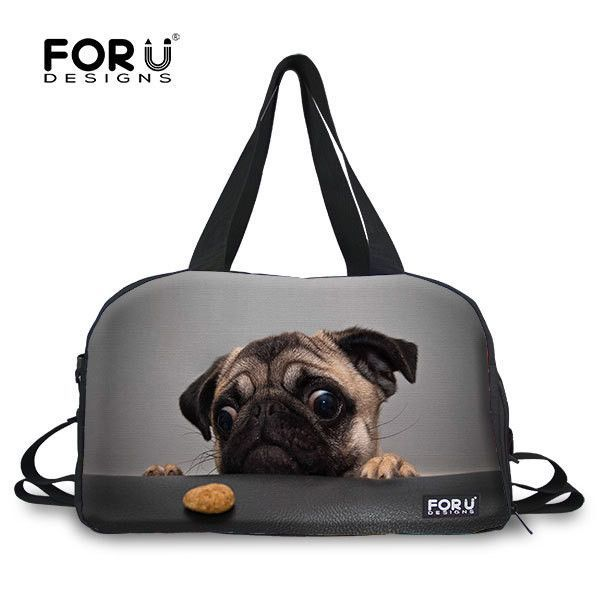 Funny Dogs With Sunglasses Travel Duffel Bag Waterproof Fashion Lightweight Large Capacity Portable Luggage Bag