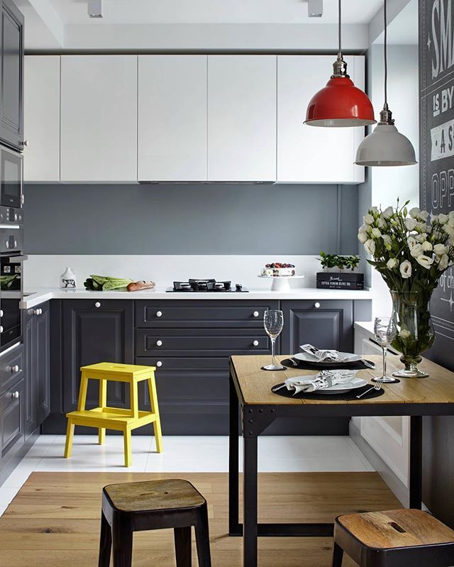 Interior Inspiration 12 Kitchens With Color: Wood + Grey + White = Perfect ️ Snap: Decoredecor Project