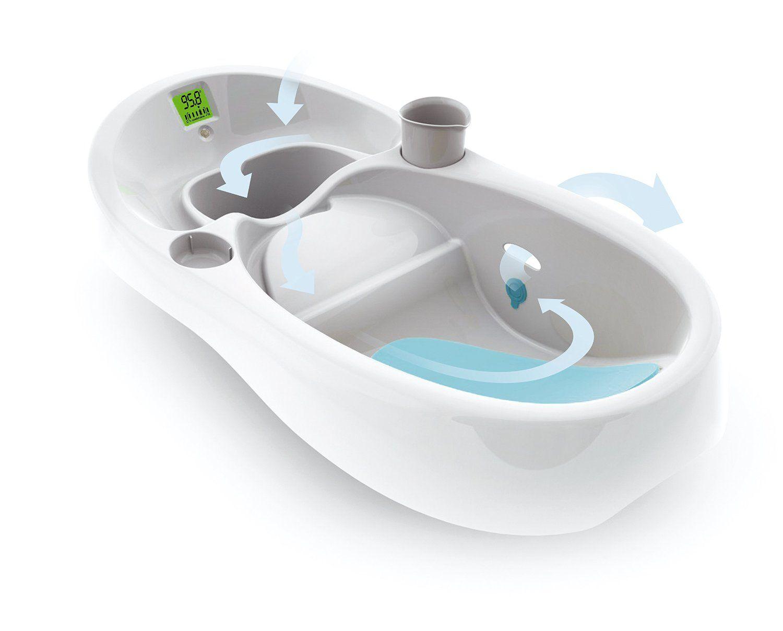 Amazon.com : 4moms, Baby Bath Tub, White : Baby Bathing Seats And ...