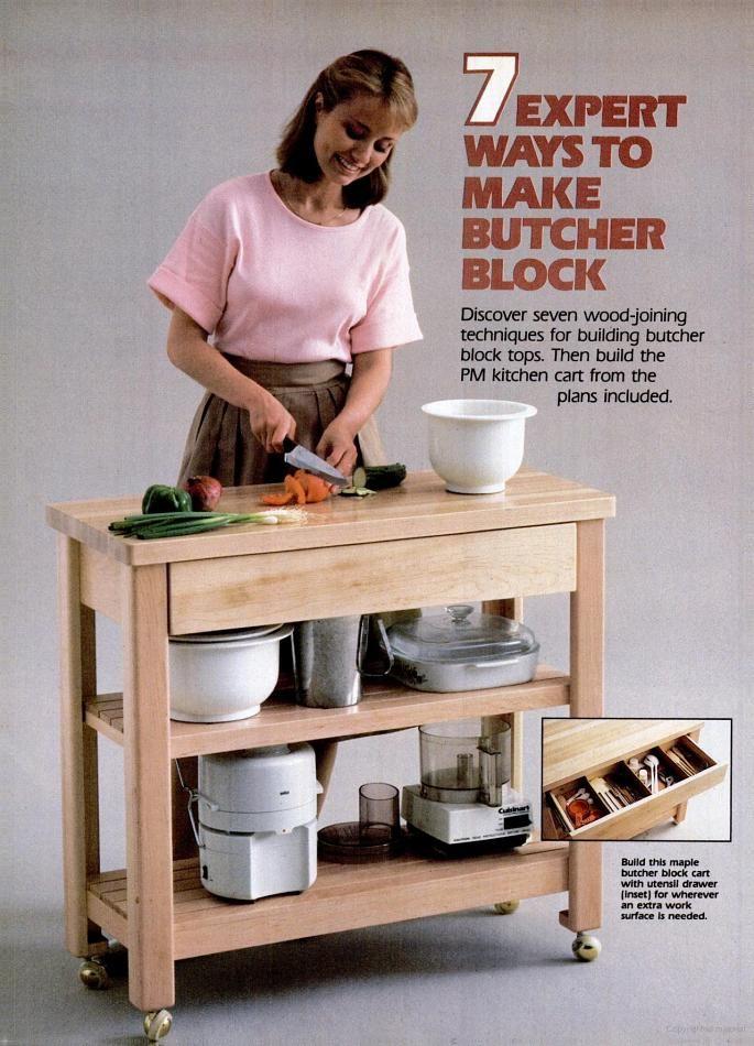 butcher block island tutorial popular mechanics kitchen island rh pinterest com