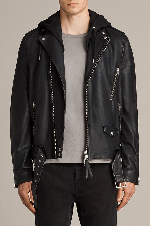 dfb5e2990bb5d AllSaints New Arrivals  Stens Leather Biker Jacket. The Stens Biker is made  from a sheep leather for a thicker feel and straight-up biker attitude.