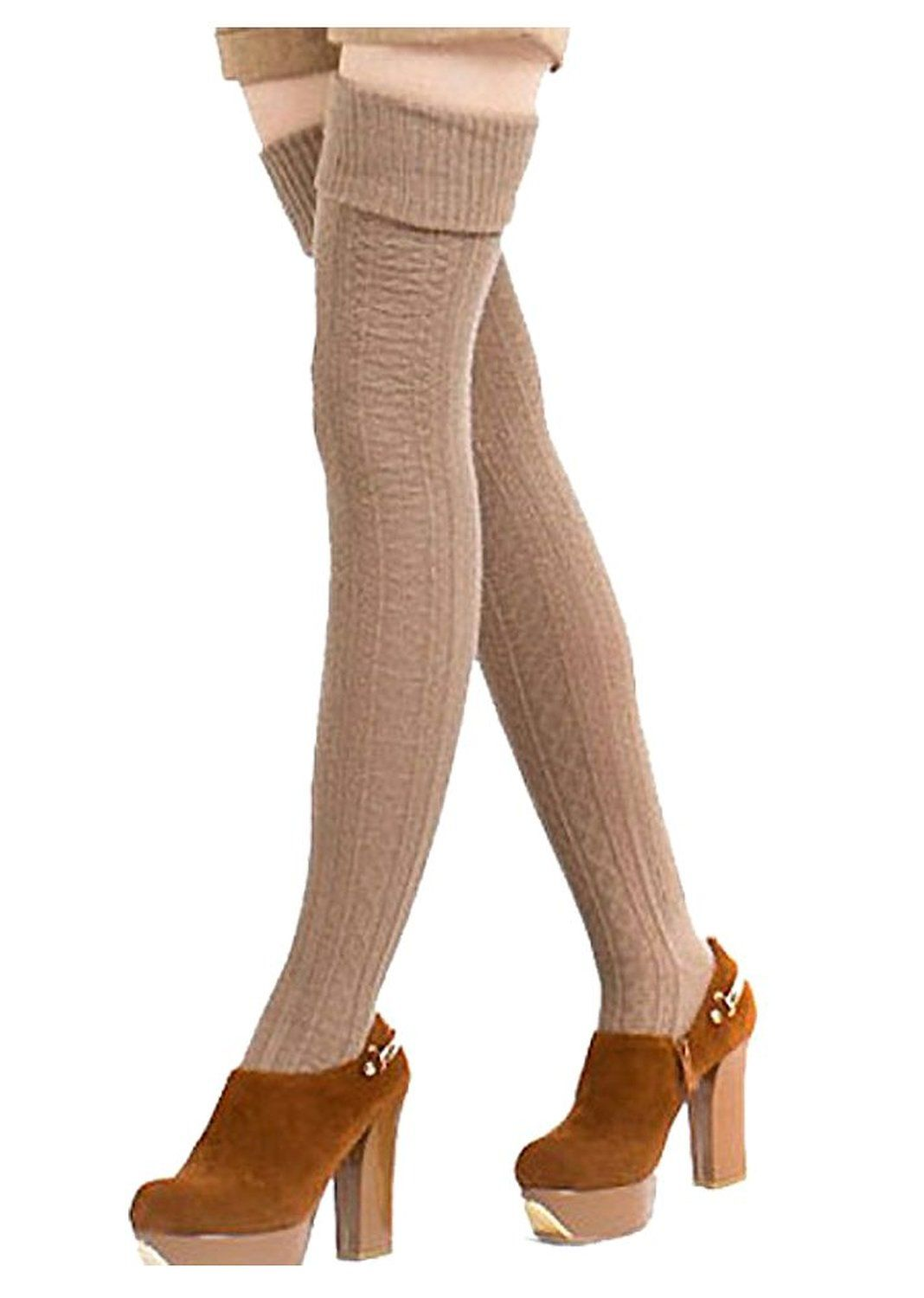 22cc87d5af7ce Mordenmiss Women's Knit High Thigh Booties Stockings >>> CONTINUE  @ http
