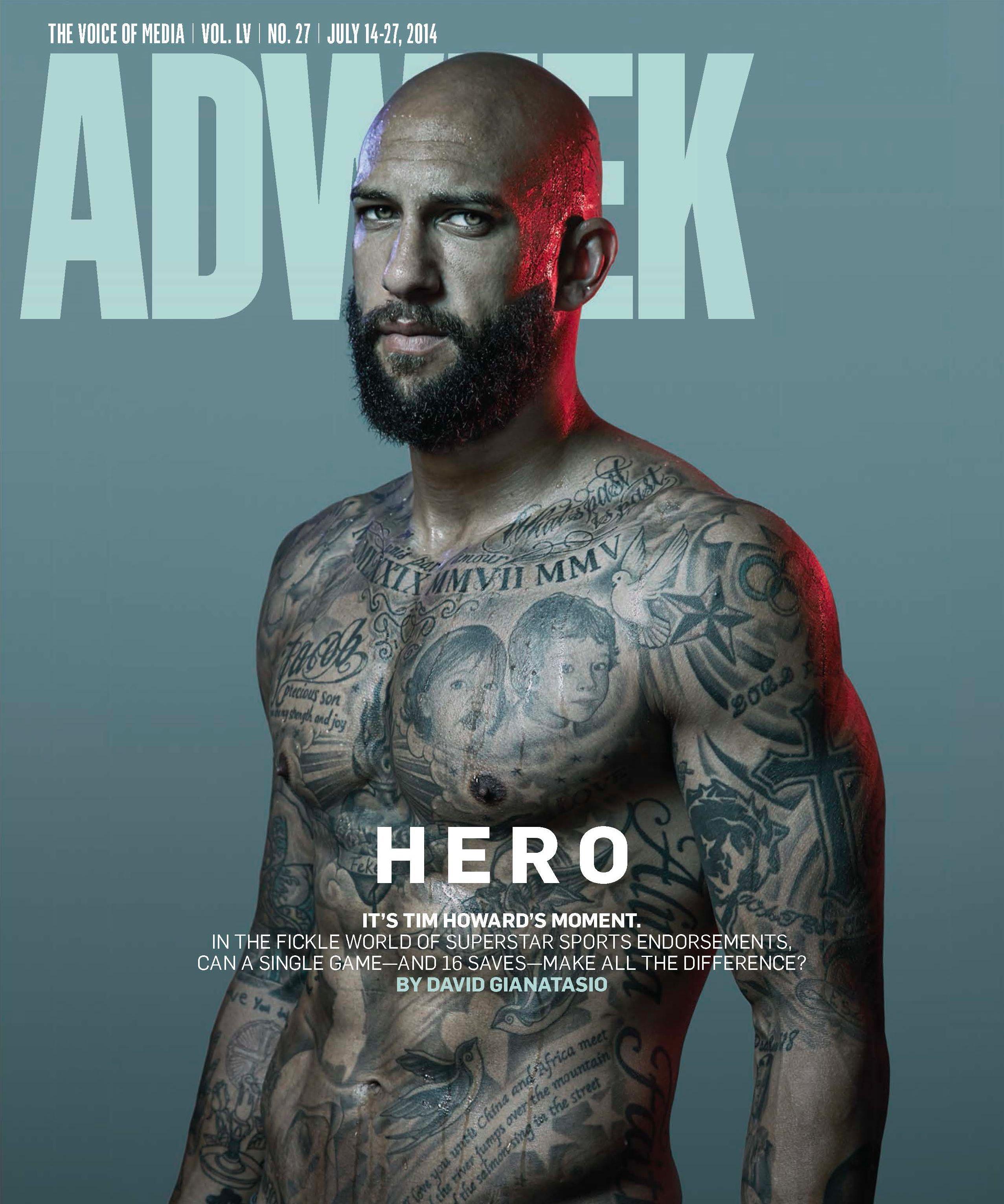 Tim Howard Tattoos : howard, tattoos, World, Crush, Howard, Looks, Very,, Shirtless, Brand, Partner,, Shirtless,