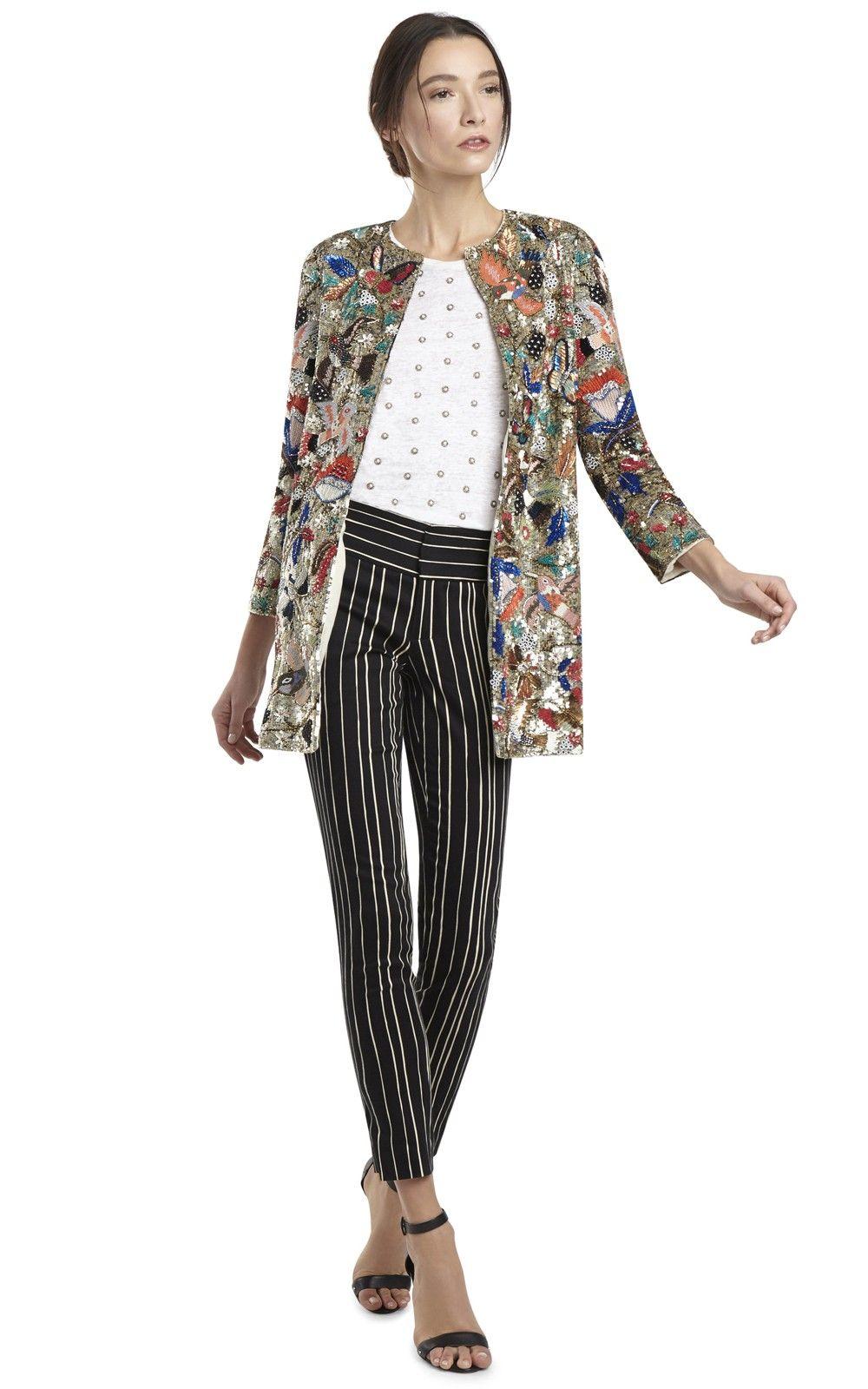 Alice olivia rory long jacket le chic pinterest long jackets