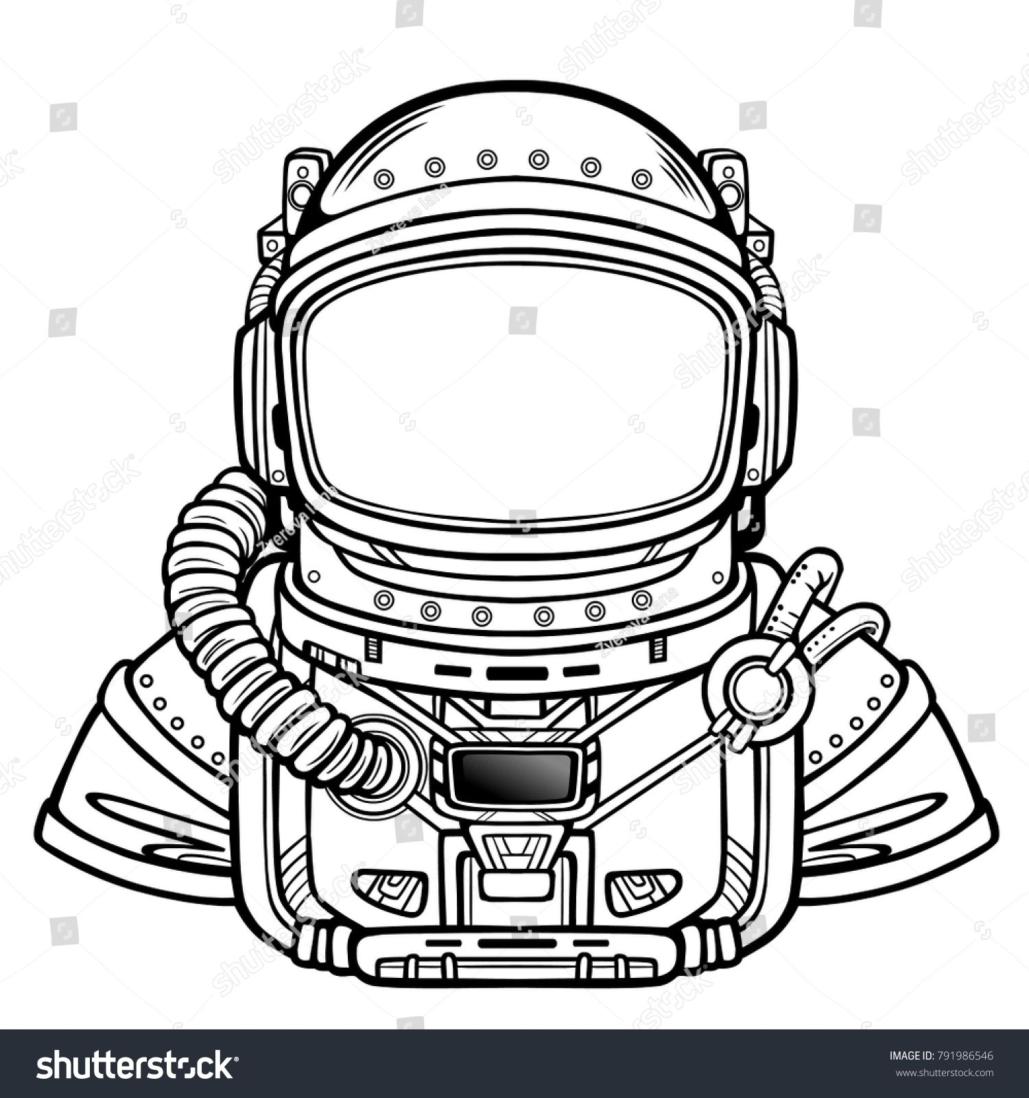 Animation Astronaut in a space suit. Vector illustration