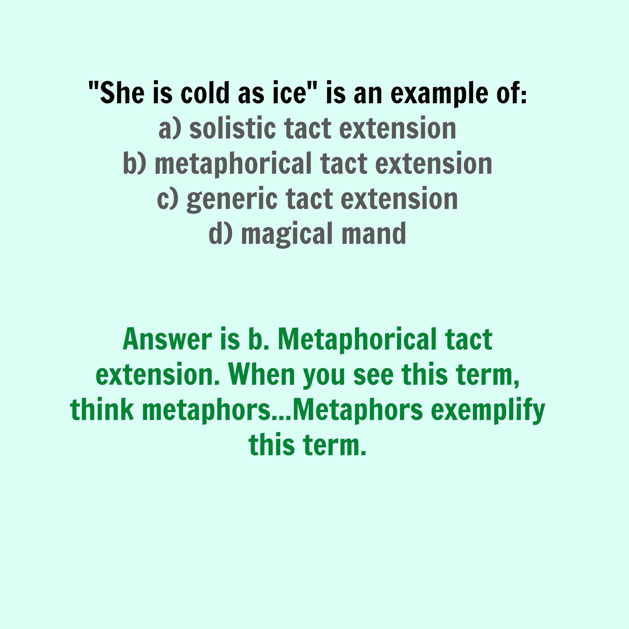 metaphorical tact extension