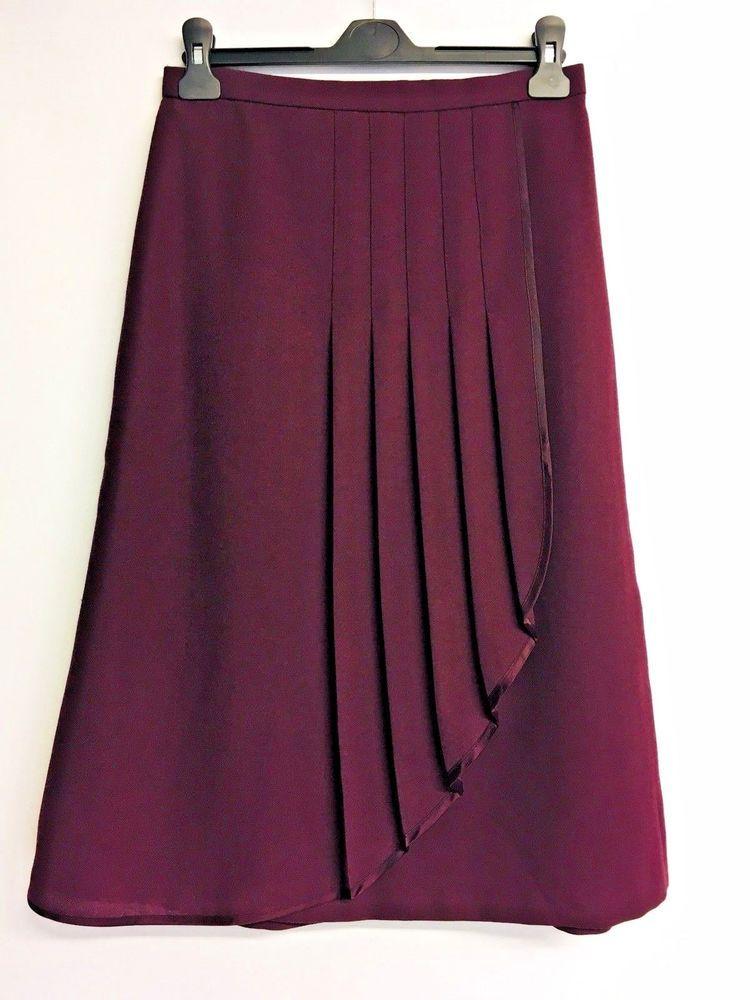 2afb0c0c85 Vtg Jacques Vert Burgundy Wool Blend Skirt UK 14 Modern 8 10 Landgirl 30s  40s  JacquesVert  Everyday