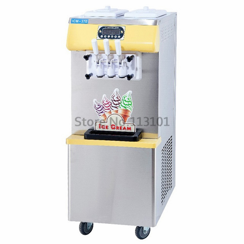 998.00$  Buy now - http://aliju2.worldwells.pw/go.php?t=32356589312 - Commercial Ice Cream Machine, vertical soft serve ice cream maker Brand New Three Colors 220V/50Hz specs