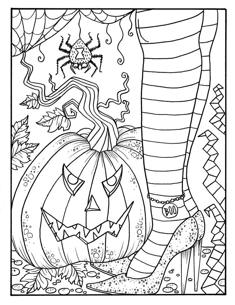 Witchy Feet Pdf Coloring Page Halloween Coloring Fun Etsy Witch Coloring Pages Free Halloween Coloring Pages Halloween Coloring [ 1028 x 794 Pixel ]