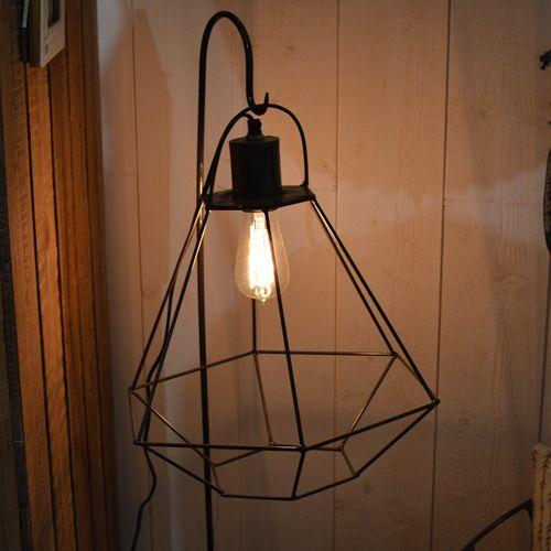 Lampe baladeuse en métal filaire noir diamant noho jardin d
