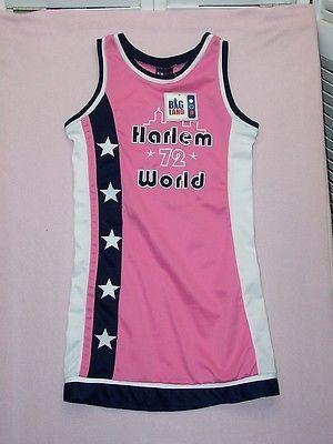 90ff6c4f520d7 BIG Land pink stretch basketball jersey dress Harlem World 72 New size L