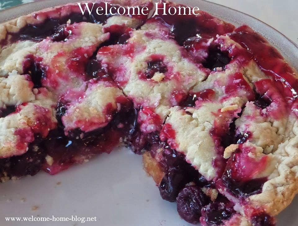 Welcome Home Blog: Black Cherry Cobbler Pie