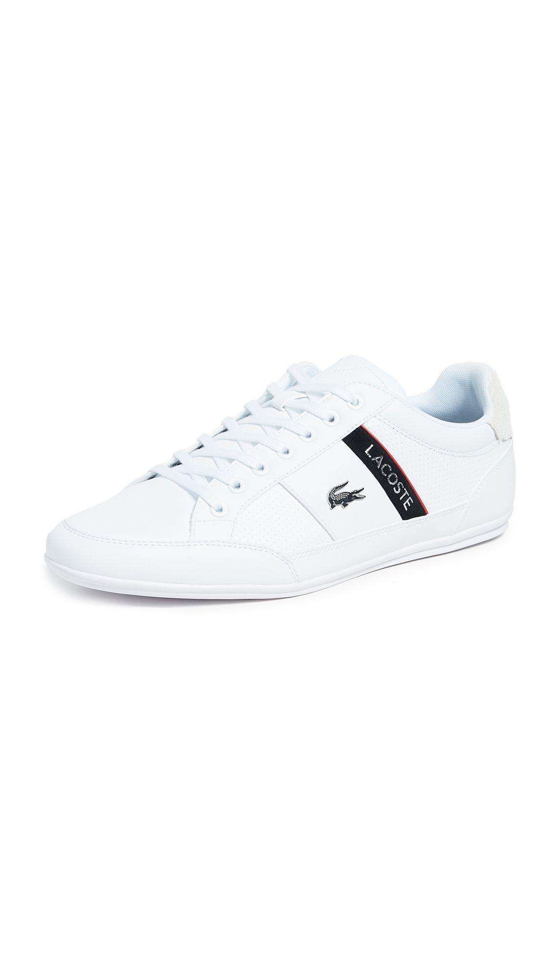 Lacoste Chaymon Low Profile Sneakers In White Modesens Lacoste Shoes Mens Lacoste Sneakers Sneakers