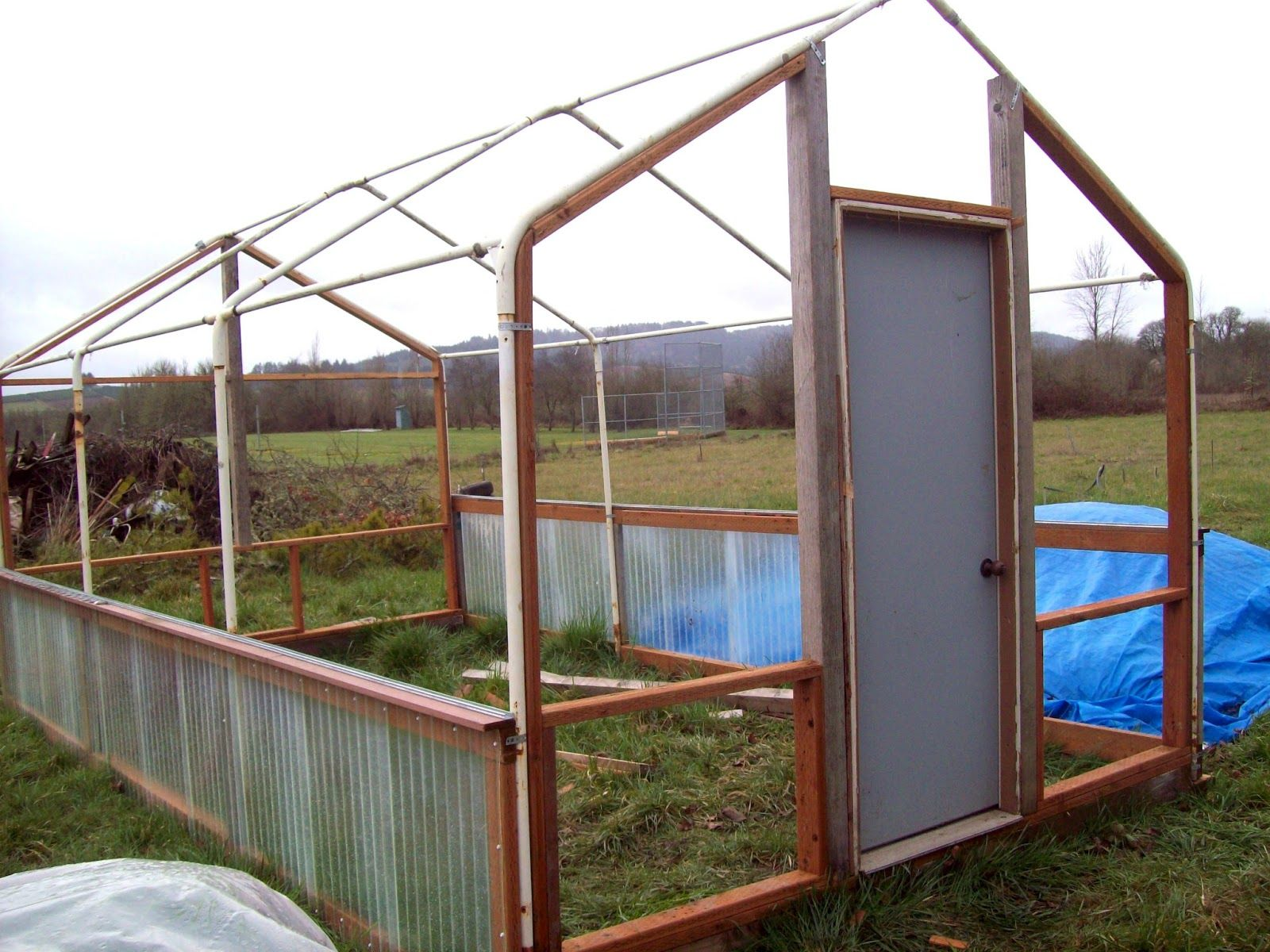 Sharing Gardens Carport Frame Greenhouse Design Greenhouse Plans Greenhouse Home Greenhouse