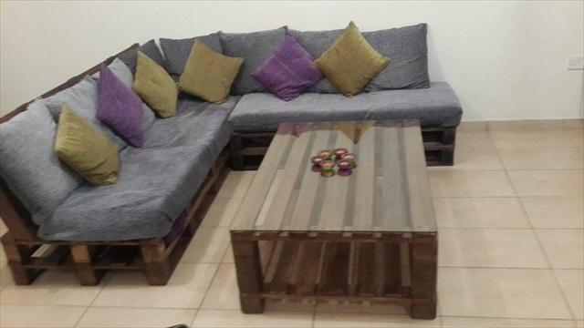 Diy Pallet L Shaped Sofa Coffee Table For Living Room 99 Pallets Pallet Furniture Designs Pallet Furniture Pallet Projects Furniture