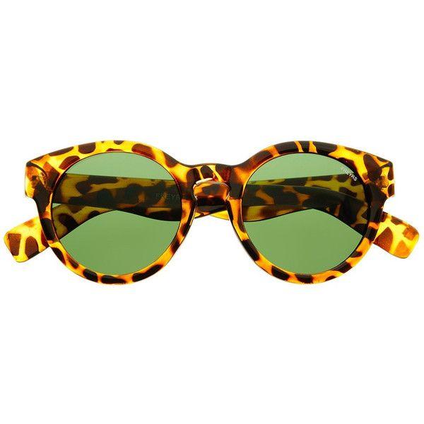 Drake Round Sunglasses (€27) ❤ liked on Polyvore featuring accessories, eyewear, sunglasses, uv protection sunglasses, round frame sunglasses, uv protection glasses, lens glasses and round frame glasses