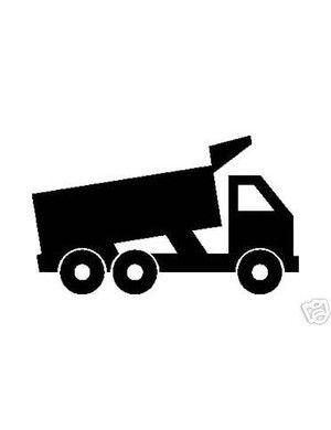 Dump Truck Silhouette Vinyl Sticker Decal Road Building Silhouette Vinyl Vinyl Silhouette Cameo Projects