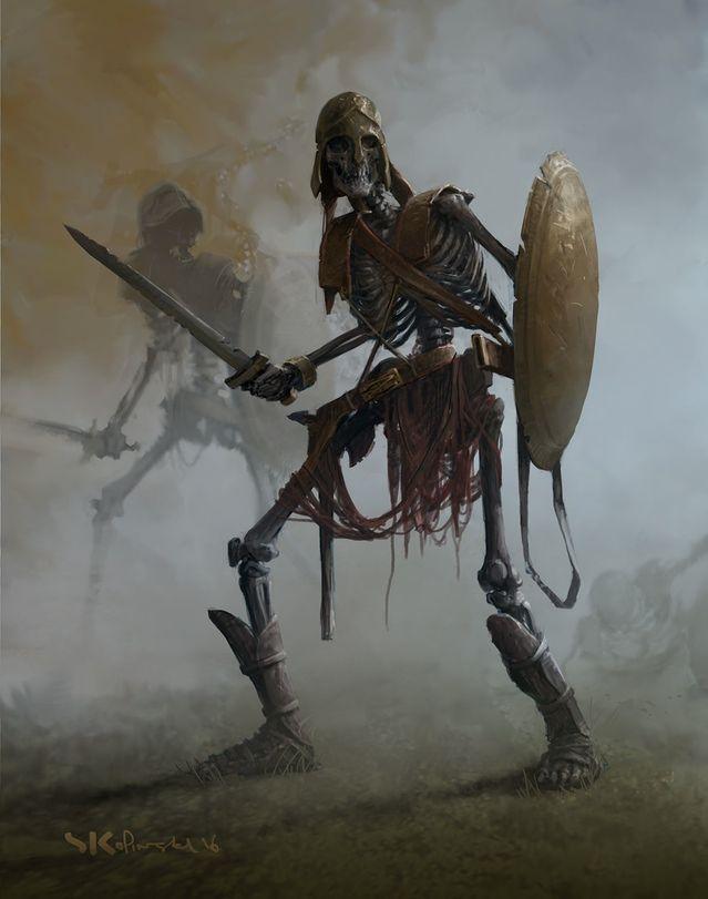 Картинки воинов скелетов