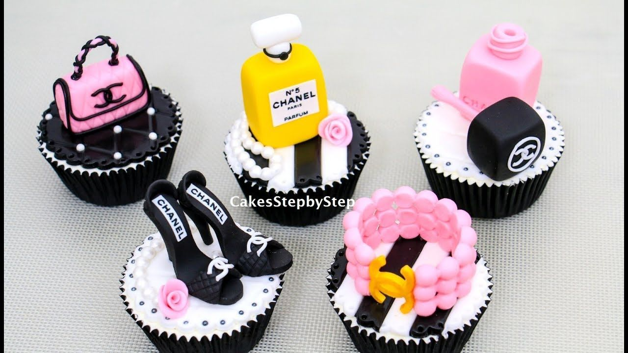 57a455a70130b1 CHANEL Fashion CUPCAKES How To Make by Cakes StepbyStep - YouTube ...